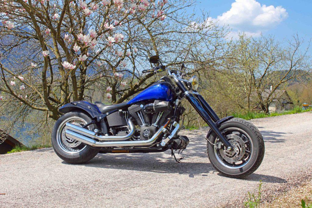 Chopper und Langgabel Harley