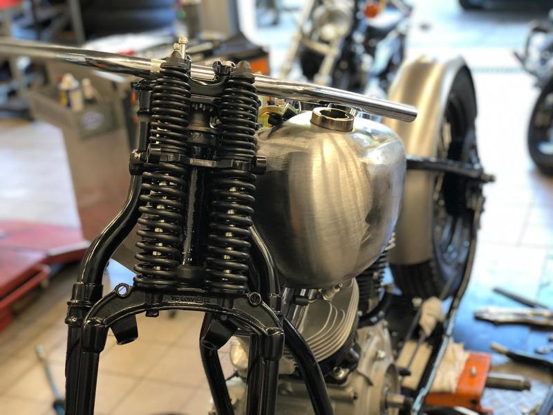 Panhead Motorrad Springergabel